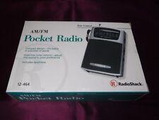 NEW! RadioShack Pocket Radio AM/FM Portable Compact Antenna Wrist Strap Earphone