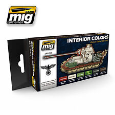 Ammo by Mig -  German Tanks Interior Colours Acrylic Paint Set # 7108