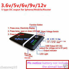 Adjust 5V 2A 9v 12v Mobile Power Bank USB 18650 Battery Charger Box Phone