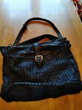 Womens VERA PELLE Italian soft black Leather Shoulder Handbag