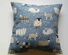 Sheep Cushion Cover & Laura Ashley Natural Gingham Fabric Patchwork Lambs