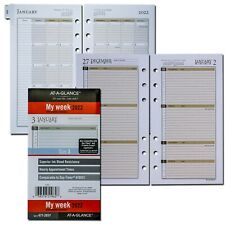 2022 At A Glance 471 285y Weekly Monthly Planner Refill Size 3 3 34 X 6 34