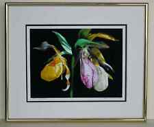 Lady slippers, Double matted and framed,  Original photography, Giclee