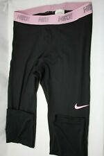 NWT NIKE Women's Victory Baselayer Capri Tights - Navy Blue/Pink FREE SHIPPING