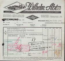 SCHORNDORF / WÜRTT., Rechnung 1938, Fabrik landwirtschaftlicher Geräte W. Abt
