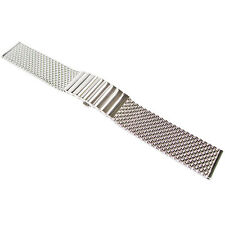 22mm Staib Mesh LONG 170mm Polished Stainless Steel German Watch Band Bracelet