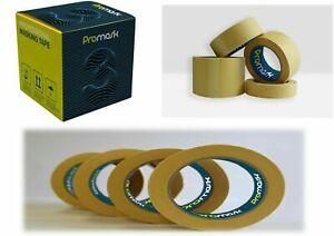 "3 inch - 3"" Masking Tape PROMASK 3 Low Bake Tape Box of 12 75mmx45m."