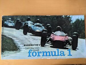Vintage Waddingtons FORMULA 1 Motor Racing Board Game 1962 Family Fun Complete