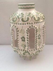 PRE-LOVED GENUINE SPANISH CERAMIC LAMP SHADE. CHOICE OF DESIGNS. HANDPAINTED