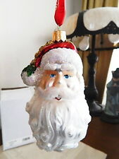 Waterford Holiday Heirlooms SANTA CLAUS HEAD Christmas Ornament  NEW / BOX!