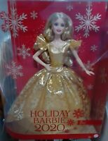 2020 Holiday Signature Barbie Doll Blonde Hair Mattel New Limited Christmas RARE