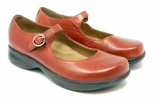 Dansko Red Leather Mary Jane Womens Size 38 Buckle Comfort