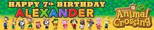 2 X PERSONALISED BIRTHDAY BANNERS ANIMAL CROSSING