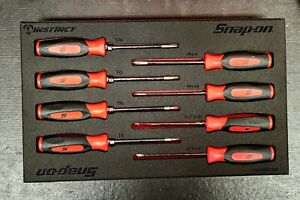 New Snap-On Red Soft Grip Mini Combo Screwdriver and Torx Set in Foam