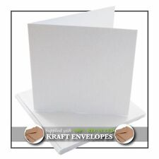 White Blank Greetings Cards with Recycled Envelopes - A5 / A6 / Square