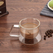 200ml Double Wall Insulated Thermo Coffee Cappuccino Glass Espresso Cup Mugs