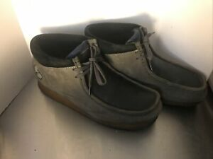 Wu-Tang Clarks Wallabees - Size: 12 Wu-Tang Clan Grey Black Suede Leather