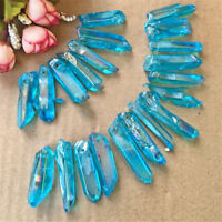 1x Rare Blue Quartz Natural Stone Crystal Stone Healing Treatment NT