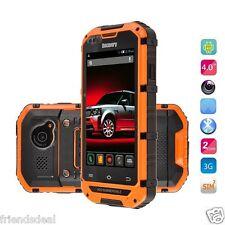 Difettoso 3G DUAL SIM SMARTPHONE DISCOVERY V6 IP68 impermeabile robusto resistente Arancione
