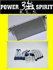 KLS FRONT MOUNT 600X300X76mm INTERCOOLER + ALUMINIUM PIPING FULL KIT -80MM