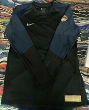 $90 Nike NBA Finals Hyper Elite Basketball Shooting Warm-Up Shirt black/blue
