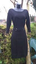 Karen Millen 8-10 Wool Mix Pencil Dress#jumperdress ♡unusual bandage style ♡ vgc
