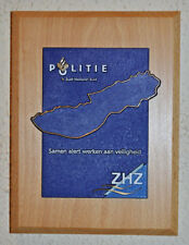 Dutch Politie Zuid Holland Zuid gedenkplaat South Holland South Police plaque