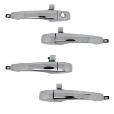 Outside Door Handles Set - Front + Rear + Left + Right - Chrome