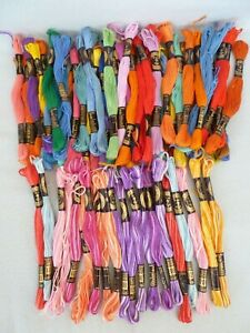 JOB LOT ANCHOR EMBROIDERY SILKS---OVER 60 SKEINS