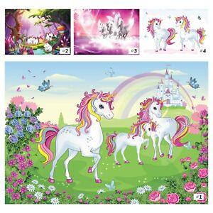 Vlies Fototapete Kinderzimmer Mädchen Einhorn Pferd Pegaz Für Kinder Fantasy 🦄