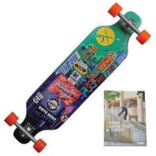 """Madrid Billboard 29 """" X 9,625 """" x 30,125 Longboard Skateboard + Patins DVD"""