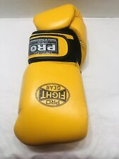 Pro Tech Boxing Gloves Sparring/Bag Gloves Size 16 Oz. Yellow