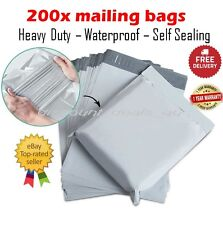 200x Large Postage Satchel Bags Mailing Courier Packaging Poly Plastic 310x405mm