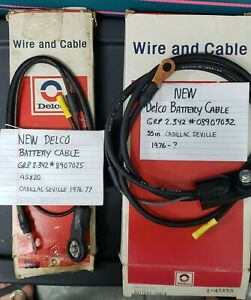Delco Battery Cables (2) NEW 4SX20 & 4SX55 For Cadillac Seville 76-77