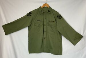 VINTAGE VIETNAM US ARMY, MANS COAT RIP-STOP POPLIN OG 107 HALLOWEEN COSTUME