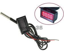 Red LED Digital Car Temperature Meter Thermometer -55-125°C DS18B20 Sensor