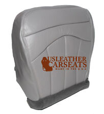 2001 Ford F150 Lariat Driver Bottom Replacement Leather Seat Cover Gray Pattern