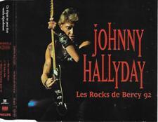 JOHNNY HALLYDAY - Les rocks de Bercy '92 PROMO CD SINGLE 3TR France 1992 PHILIPS
