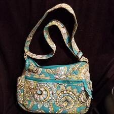Vera Bradley Peacock On The Go Crossbody Pocketbook Bag Purse Turquoise