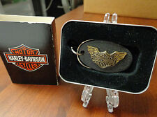 HARLEY DAVIDSON LOGO & WINGS ZIPPO KEY RING MINT IN BOX HARD TO FIND 5436HD H213