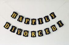 Happily Divorced Banner, Divorce Party Decorations, Favors Supplies, USA