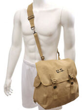 U.S. WW2 M1936 Musette Bag with Shoulder strap Khaki marked JT&L 1942