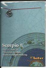 ZODIAC SCORPIO 18kt GOLD DIPPED STERLING SILVER PLATED CHARM