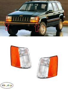 FOR JEEP GRAND CHEROKEE ZJ 1993 - 1996 2X FRONT PARKING LAMP LIGHTS PAIR L + R