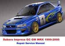 SUBARU IMPREZA GC GM WRX 1999-2000 FACTORY SERVICE REPAIR MANUAL PDF FAST SEND