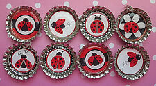 🌸Red Ladybug Magnets Birthday Party Supplies Party Favors Necklaces Magnets
