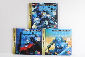 Lot of 3 Mobile Suit Gundam Side Story 1 2 3 Gaiden Sega Saturn SS Japan Import