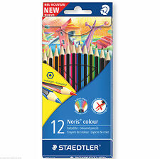 12 X Staedtler Noris Wopex Colorante Lápices-Hexagonal Forma, Anti-Break conduce