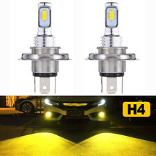 H4 9003 Replace Hid Halogen Headlight High Low Dual Beam Led Bulbs Yellow Amber