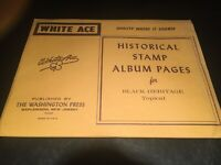 White Ace Stamp Album Supplement - Topicals- Black Heritage - 12- Blank Pages